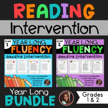 Fluency & Comprehension Reading Intervention Bundle for Grades 1 & 2