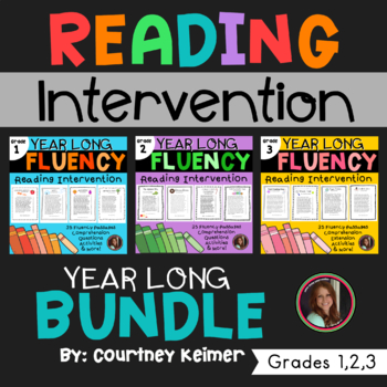 Fluency & Comprehension Reading Intervention Bundle for Grades 1-3