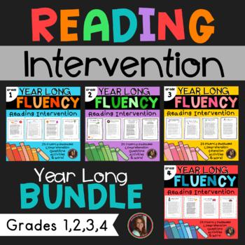 Fluency & Comprehension Reading Intervention Bundle for Grades 1-4
