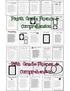 Fluency & Comprehension Reading Intervention Bundle for Grades 2-5