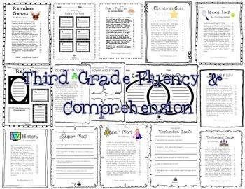 Fluency & Comprehension Reading Intervention Bundle for Grades 3 & 4