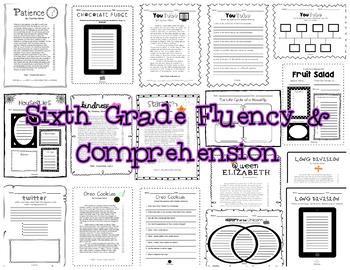 Fluency & Comprehension Reading Intervention Bundle for Grades 3, 4, 5, & 6