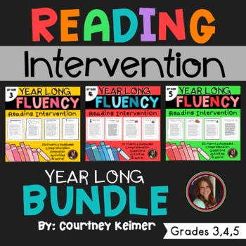 Fluency & Comprehension Reading Intervention Bundle for Grades 3-5