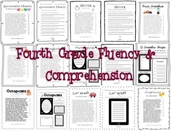 Fluency & Comprehension Reading Intervention Bundle for Grades 4-5