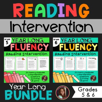 Fluency & Comprehension Reading Intervention Bundle for Grades 5 & 6