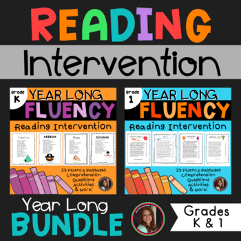 Fluency & Comprehension Reading Intervention Bundle for Grades K-1