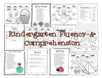 Fluency & Comprehension Reading Intervention Bundle for Grades K-1