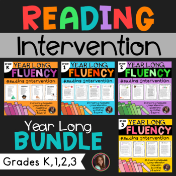 Fluency & Comprehension Reading Intervention Bundle for Grades K-3