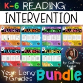Fluency & Comprehension Reading Intervention Bundle for Grades K-6