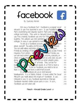 Fluency & Comprehension Reading Intervention {Social Media} Sixth Grade Level