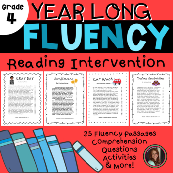 Fluency & Comprehension Reading Intervention for All Seasons - 4th Grade Level