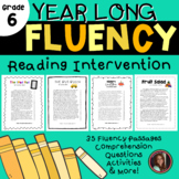 Reading Intervention Fluency Passages & Comprehension - 6t