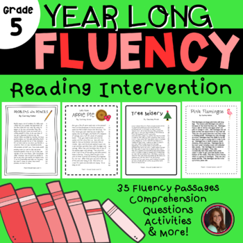 Fluency & Comprehension Reading Intervention for All Seasons - Fifth Grade Level