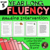 Reading Intervention Fluency Passages & Comprehension - 5th Grade Level