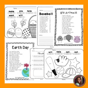 Fluency & Comprehension Reading Intervention for All Seasons Kindergarten Level