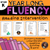 Reading Intervention Fluency Passages & Comprehension - Kindergarten Level