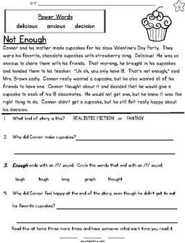 Valentine Week Long Fluency Packet