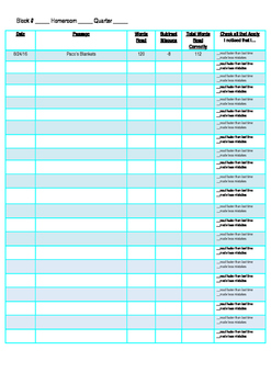 Fluency Data Sheet-Student