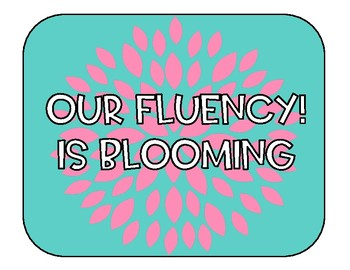 Fluency Data Wall Blooming Blossoming Flower
