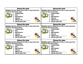 Fluency Dice Game