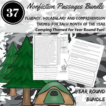 Reading COMPREHENSION Passages Bundle ~ August-June Fluency, Vocabulary