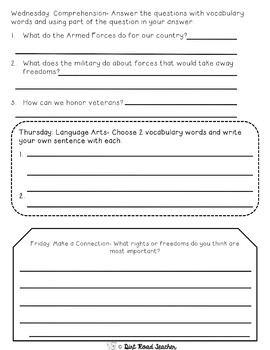 Reading Comprehension Passages November Nonfiction Fluency Vocabulary