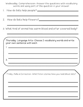 Reading Comprehension Passages October Nonfiction Vocabulary