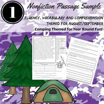 Comprehension Passages with Vocabulary and Questions