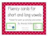 Fluency Task Cards for VOWELS!