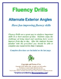 Fluency Drills, Transversals - Alternate Exterior Angles