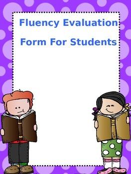 Fluency Evaluation Form