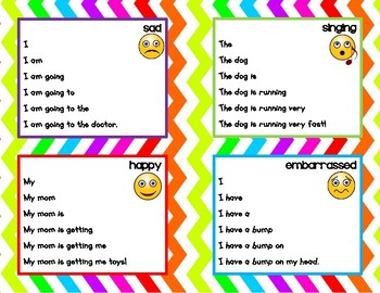 Fluency Expression Cards - primary fluency practice