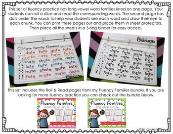 Fluency Families Roll & Read {long vowels}