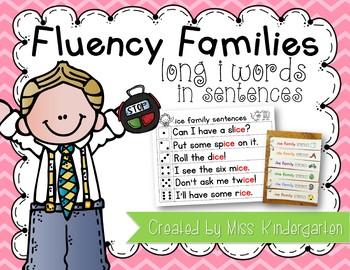 Fluency Families Words in Sentences {long i words}