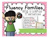Fluency Families Words in Sentences {long u words}