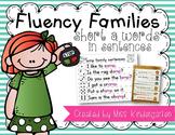 Fluency Families Words in Sentences {short a words}