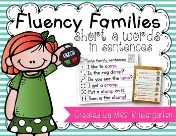 Fluency Families Words in Sentences {short a words}