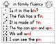 Fluency Families Words in Sentences {short i words}