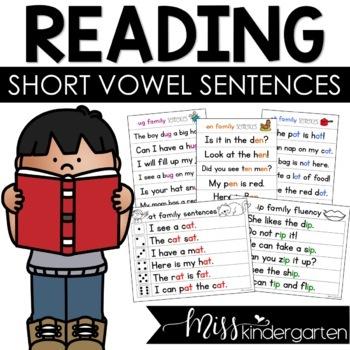Fluency Families Words in Sentences {short vowel bundle}