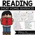 Fluency Families Words in Sentences {short vowel growing bundle}