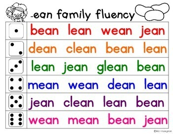 Fluency Families {long e words}