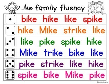 Fluency Families {long i words}