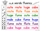 Fluency Families {long u words}
