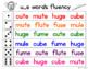 Fluency Families {long u words}