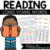 Reading Fluency Practice Roll and Read Long Vowel Word Families