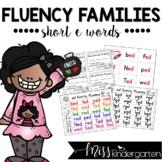 Reading Fluency Practice Short e Words