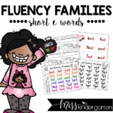 Reading Fluency Practice Short e Words