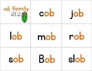 Fluency Families {short o words}