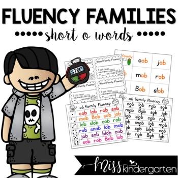 Reading Fluency Practice Short o Words