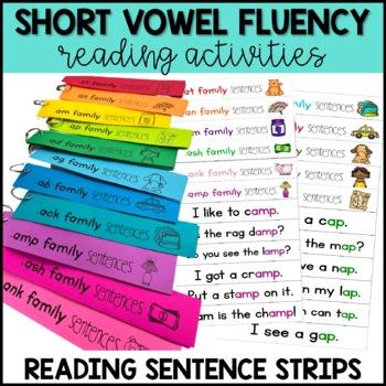 Reading Fluency Practice Short Vowel Words (BUNDLE)